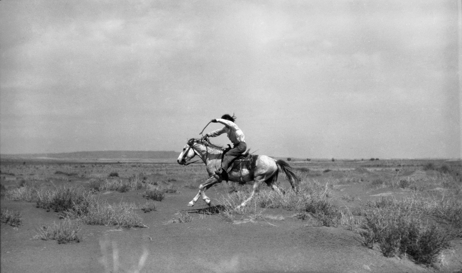 Hopi Boy Racing Horse, Hopi Reservation, Arizona, July 8, 1908. Photograph by Joseph Dixon. Courtesy of the Mathers Museum of World Cultures, Wanamaker Collection, Indiana University, Bloomington, I.N., W-5687.